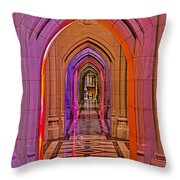 Washington Cathedral Light Show Throw Pillow