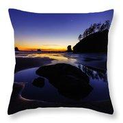 Washington Coast Sunset Pool Of Radiance Throw Pillow