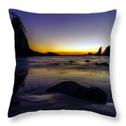 Washington Coast Tides Retreat Throw Pillow