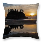 Washington Coast Tranquility Throw Pillow