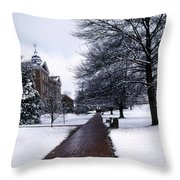 Washington College Throw Pillow