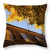 Washington D C Facades - Reflecting On Autumn In Georgetown  Throw Pillow
