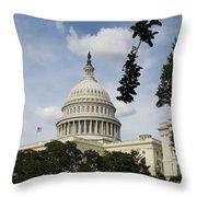 Washington Dc Capitol Dome Throw Pillow