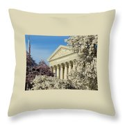 Washington Dc Cherry Blossom Supreme Court Throw Pillow