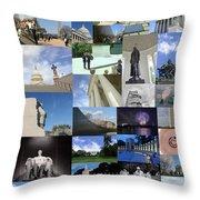 Washington D. C. Collage 3 Throw Pillow