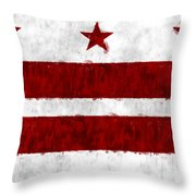 Washington D.c. Flag Throw Pillow