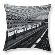 Washington Dc Metro Station I Throw Pillow