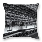 Washington Dc Metro Station Vi Throw Pillow