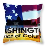 Washington Dc Patriotic Large Cityscape Throw Pillow