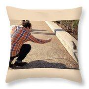 Washington Dc Tourists Love Squirrels Throw Pillow