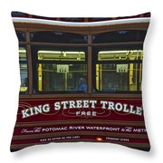 Washington Dc Trolley Throw Pillow