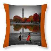 Washington Fall Children Throw Pillow