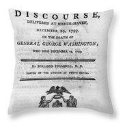 Washington Funeral Throw Pillow