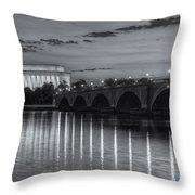 Washington Landmarks At Dawn II Throw Pillow