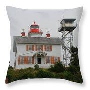 Washington Light House Throw Pillow