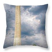Washington Monument 2 Throw Pillow