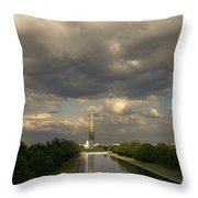 Washington Monument And Capitol Throw Pillow