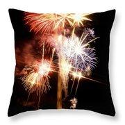 Washington Monument Fireworks 2 Throw Pillow
