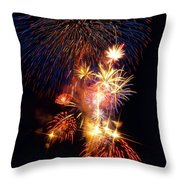 Washington Monument Fireworks 3 Throw Pillow by Stuart Litoff