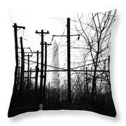 Washington Monument From The Train Yard. Washington Dc Throw Pillow