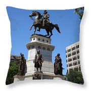 Washington Monument - Richmond Va Throw Pillow