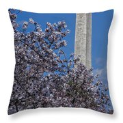 Washington Monument Throw Pillow by Susan Candelario