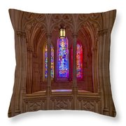 Washington National Cathedral Colors Throw Pillow