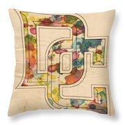 Washington Nationals Logo Art Throw Pillow