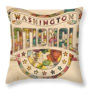 Washington Nationals Poster Art Throw Pillow