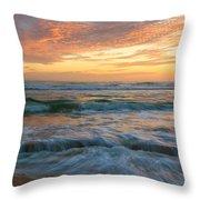 Washington Oaks At Low Tide Throw Pillow