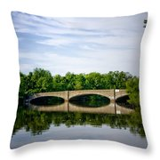 Washington Road Bridge Over Lake Carnegie Princeton Throw Pillow
