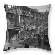Washington Slum, 1935 Throw Pillow