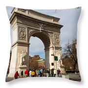 Washington Square Arch New York City Throw Pillow