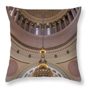 Washington State Capitol Building Chandelier Closeup Throw Pillow