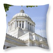 Washington State Capitol Building Dome Throw Pillow