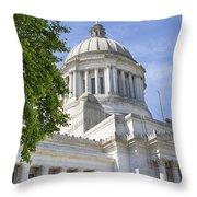 Washington State Capitol Building Throw Pillow