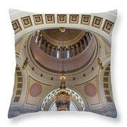 Washington State Capitol Building Rotunda Throw Pillow
