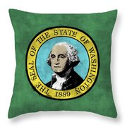 Washington State Flag Throw Pillow
