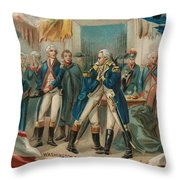 Washington Taking Leave Of His Officers Throw Pillow
