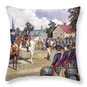 Washingtons Army, 1776 Throw Pillow