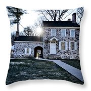 Washington's Headquarters At Valley Forge Throw Pillow