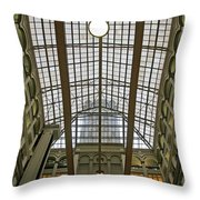 Inside The Old Post Office Throw Pillow