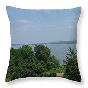 Washington's View From Mt. Vernon Throw Pillow