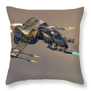 Wasp Fighter Throw Pillow