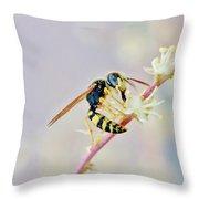 Wasp2 Throw Pillow
