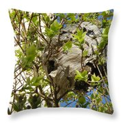 Wasps' Nest Throw Pillow