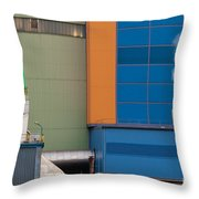 Waste-to-energy Plant Detail Oberhausen Germany Throw Pillow