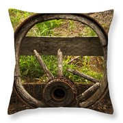 Www. Wasted Wagon Wheel Throw Pillow