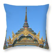 Wat Amarintaram Temple Gate Dthb1524 Throw Pillow