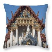 Wat Amarintaram Ubosot Dthb1507 Throw Pillow
